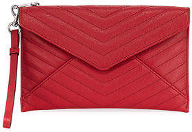 Rebecca Minkoff Leo Quilted Leather Wristlet Clutch Bag