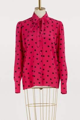Valentino Heart printed blouse