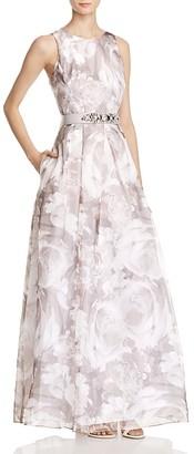 Eliza J Floral-Print Organza Gown $248 thestylecure.com
