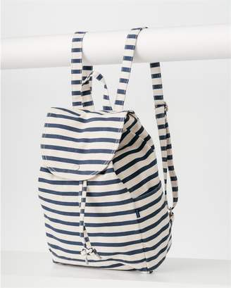 Baggu Drawstring Backpack - Sailor Stripe