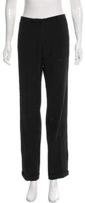 Jean Paul Gaultier Mesh-Paneled Virgin Wool Pants w/ Tags $245 thestylecure.com