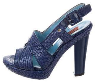 Missoni Raffia Platform Sandals silver Raffia Platform Sandals