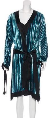 Diane von Furstenberg Velvet Kimono Dress w/ Tags