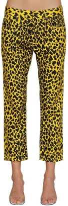 R 13 Joey Leopard Printed Cotton Pants