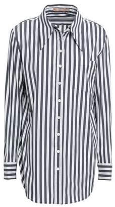 Michael Kors Striped Cotton-blend Shirt
