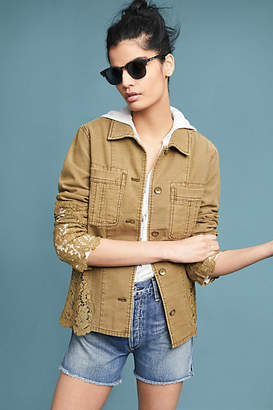 Anthropologie Laced Utility Jacket