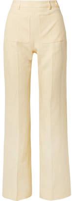 Acne Studios - Pia Linen Straight-leg Pants - Pastel yellow