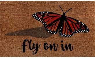 August Grove Fidler Coir Fibre Butterfly Doormat