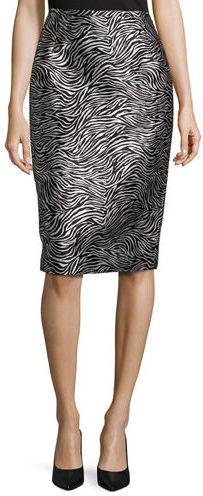Michael Kors Zebra Jacquard Pencil Skirt