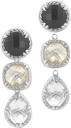 Alor Delatori by Delatori By Silver Gemstone & Crystal Drop Earrings