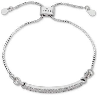 DKNY Silver-Tone Pave Bar Slider Bracelet