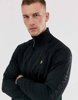 Farah Sport Mansfield tricot sweat in black