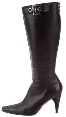 Prada Leather Knee-High Boots