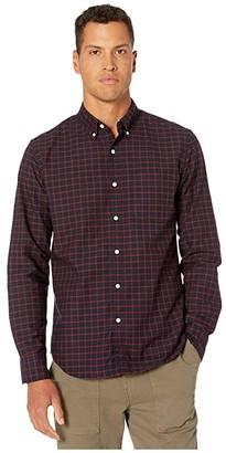 J.Crew Slim American Pima Cotton Checked Oxford Shirt with Mechanical Stretch