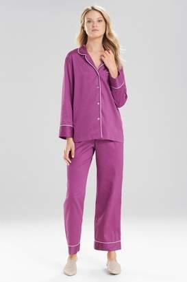 Natori Cotton Sateen Essentials PJ Pants Set