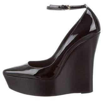 Burberry Pointed-Toe Wedge Pumps