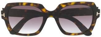 Tom Ford oversized tortoiseshell sunglasses
