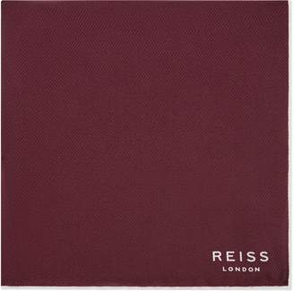 Reiss Moon - Silk Pocket Square in Burgundy