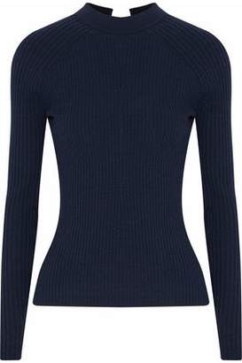 Autumn Cashmere Tie-Back Ribbed Merino Wool-Blend Sweater