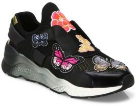 Ash Mix Butterfly Sneakers $198 thestylecure.com
