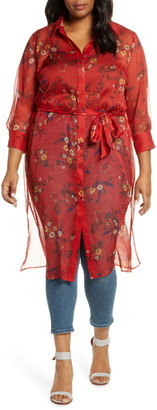 Vince Camuto Country Bouquet Belted Duster