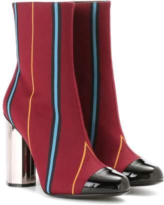 Marco De Vincenzo Fabric ankle boots
