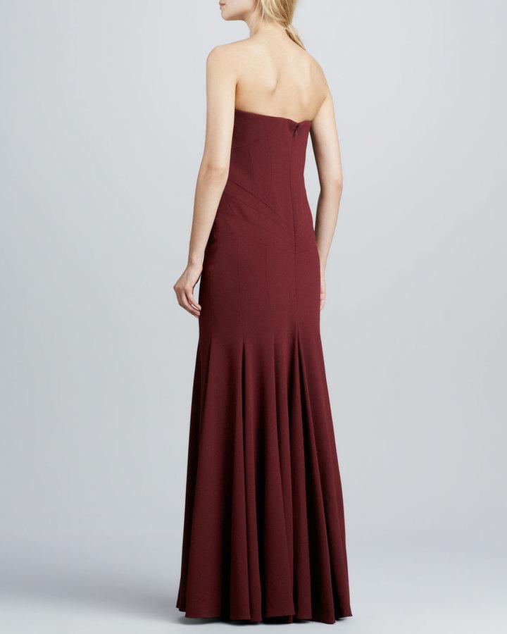 Zac Posen Strapless Sweetheart Gown