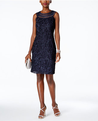 Jessica Howard Crochet Shift Dress $109 thestylecure.com