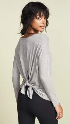 Beyond Yoga Draw The Line Tie Back Pullover