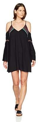 LaBlanca La Blanca Women's Long Sleeve Cold Shoulder Tunic Cover up Dress
