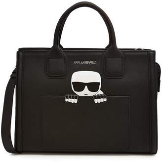 Karl Lagerfeld K/Ikonik Klassik Leather Tote