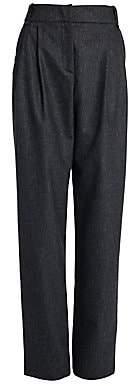 Giorgio Armani Women's Relax-Fit Flannel Trousers