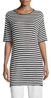 Eileen Fisher Striped Organic Linen Tunic $188 thestylecure.com