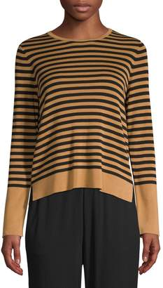 Eileen Fisher Striped Roundneck Sweater