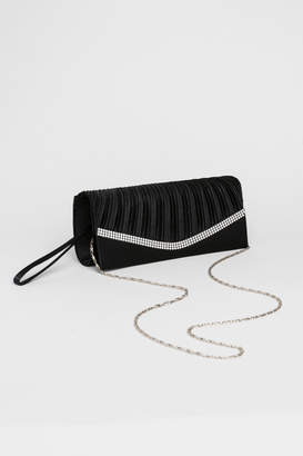 Ardene Long Satin Crystal Clutch