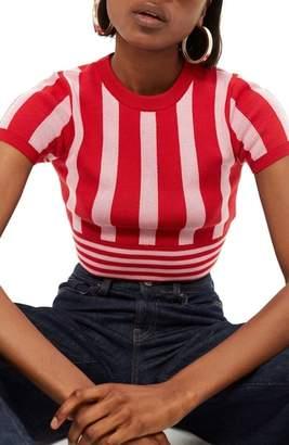 Topshop Stripe Crop Top