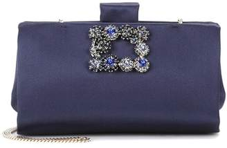 Roger Vivier Soft Flowers satin clutch