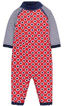 Mothercare Baby Girls' Print Swimsuit,(Size: 98 cms)