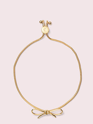 Kate Spade Heavy metals bow slider bracelet