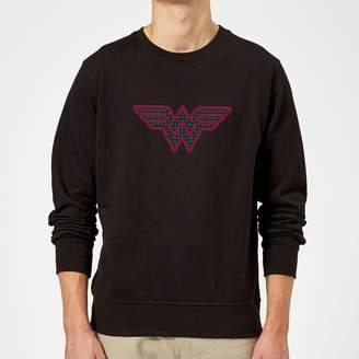 Justice League Wonder Woman Retro Grid Logo Sweatshirt
