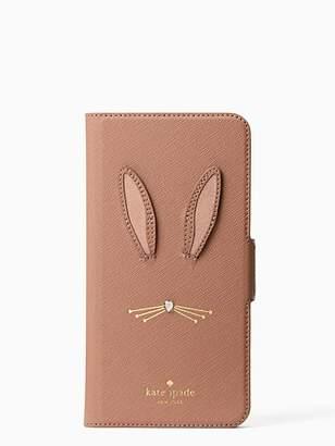 Kate Spade Rabbit applique iphone 7 & 8 plus folio case
