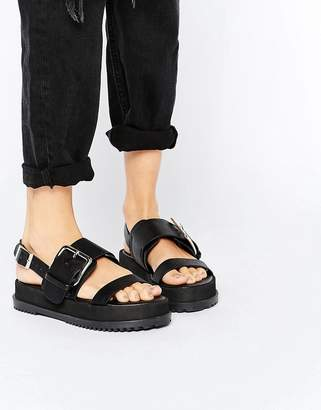 ASOS FRAYER Chunky Buckle Sandals $40 thestylecure.com