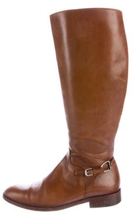 Ralph Lauren Collection Leather Knee-High Boots