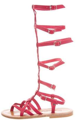 K Jacques St Tropez Leather Gladiator Sandals