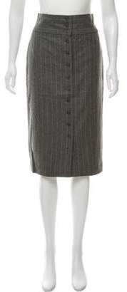 Ralph Lauren Wool Pencil Skirt Grey Wool Pencil Skirt