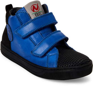 Naturino Toddler/Kids Boys) Blue & Black Leather High-Top Sneakers