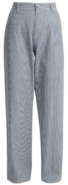 Coryn striped straight-leg jeans