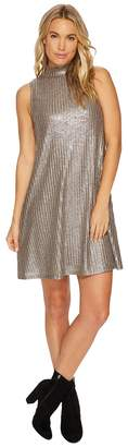 Kensie Foiled Rib Shift Dress KSNK9889 Women's Dress