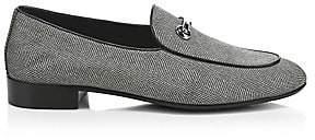 Giuseppe Zanotti Men's Spilar Jacquard Leather Loafers