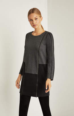 BCBGMAXAZRIA Colorblocked Sweatshirt Dress